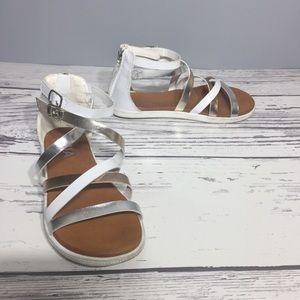Mia girls white/gold sandals